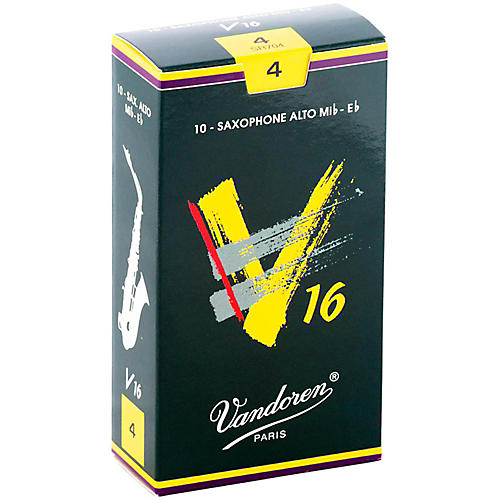Vandoren Alto Sax V16 Reeds Strength 4 Box of 10