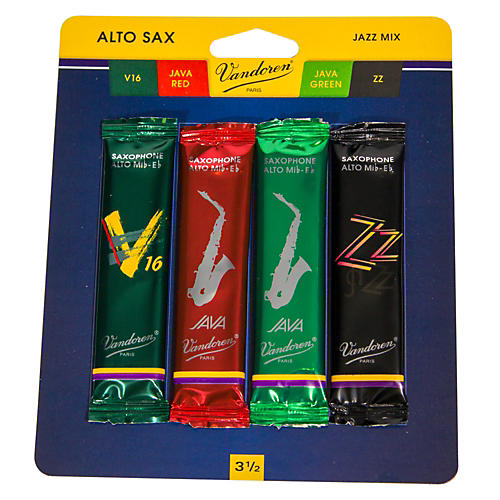 Vandoren Alto Saxophone Jazz Reed Sample Pack Strength - 3.5
