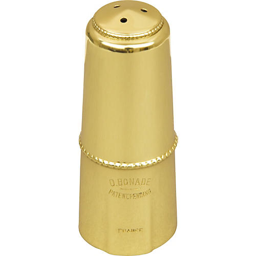 Bonade Alto Saxophone Mouthpiece Cap Gold Lacquer Cap - Inverted