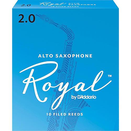 Rico Royal Alto Saxophone Reeds, Box of 10 Strength 2
