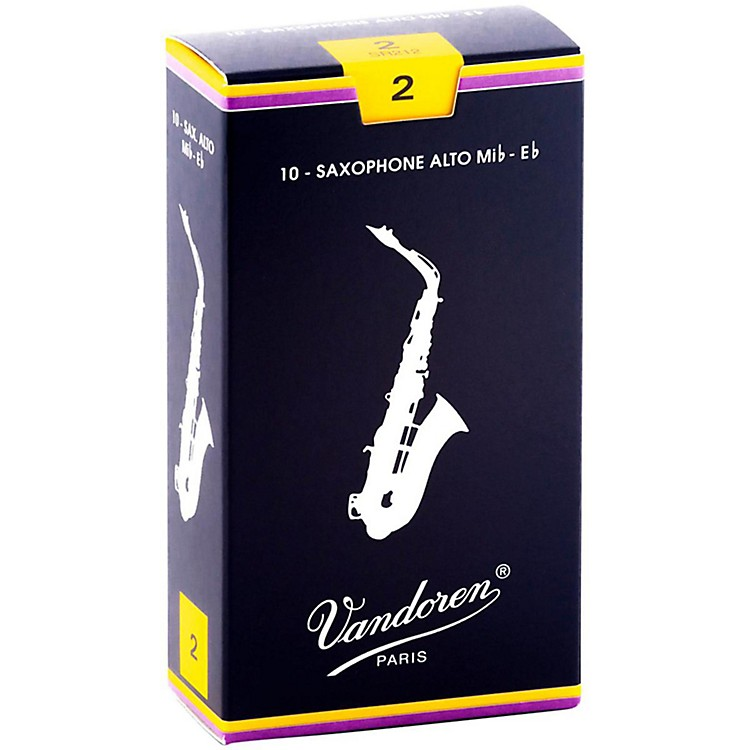 Vandoren Alto Saxophone Reeds Strength 2 Box of 10