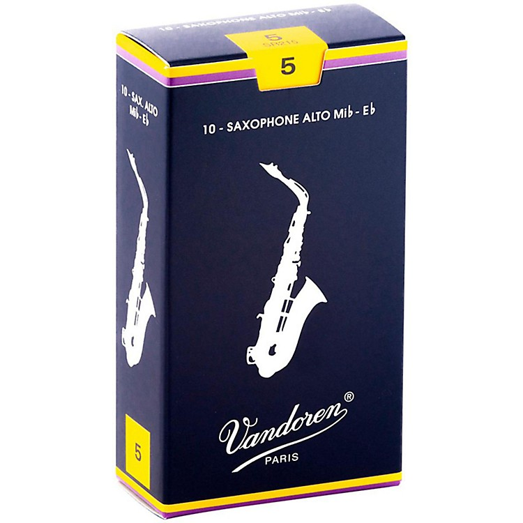 Vandoren Alto Saxophone Reeds Strength 5 Box of 10
