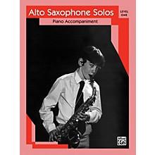 Alfred Alto Saxophone Solos Level I Piano Acc.