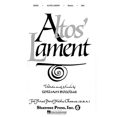 Shawnee Press Altos' Lament SSA composed by W. Bowlus