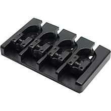 Hipshot Aluminum A-Style Bass Bridge Mount 1 - No String Through Black