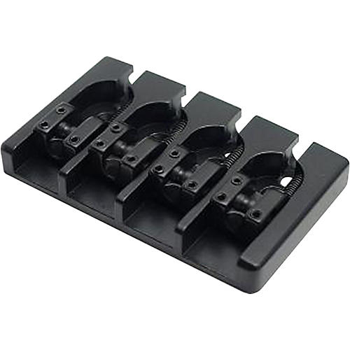 Hipshot Aluminum A-Style String-Through Bass Bridge Mount 2 Black