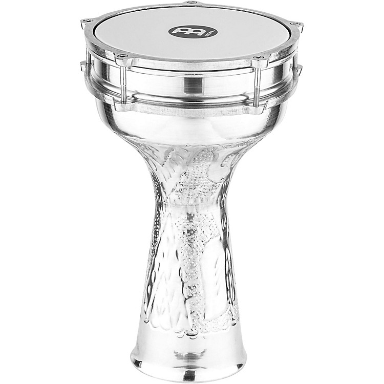 Meinl Aluminum Hand-Hammered Darbuka Silver 7 1/4 In X 13 1/3 In