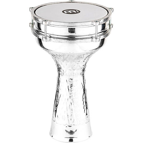 Meinl Aluminum Hand Hammered Jingle Darbuka Silver 8 In X 14 1/2 In