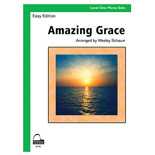 SCHAUM Amazing Grace (Schaum Level One Piano Solo) Educational Piano Book-thumbnail