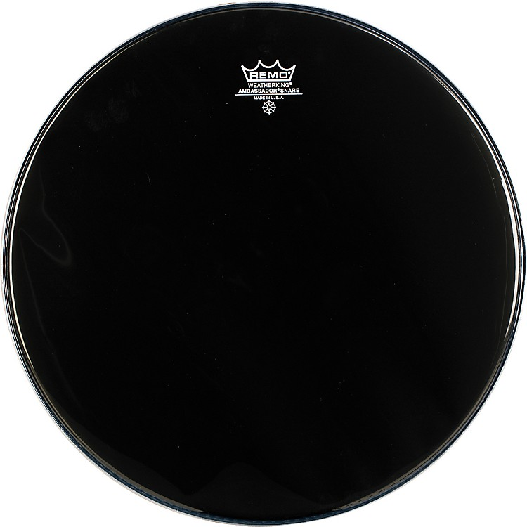 Remo Ambassador Snare Drum Head No Collar 13 Inch Ebony