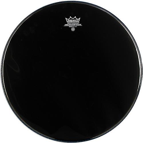 Remo Ambassador Snare Drum Head No Collar 14 in. Ebony