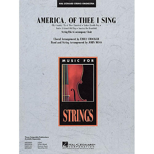Hal Leonard America, of Thee I Sing Music for String Orchestra Series Arranged by John Moss-thumbnail