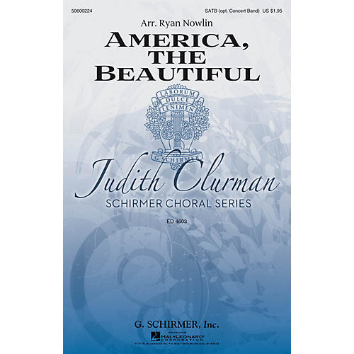 G. Schirmer America, the Beautiful (Judith Clurman Choral Series) SATB arranged by Ryan Nowlin-thumbnail
