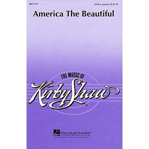 Hal Leonard America the Beautiful (SATB a cappella) SATB a cappella arranged by Kirby Shaw-thumbnail
