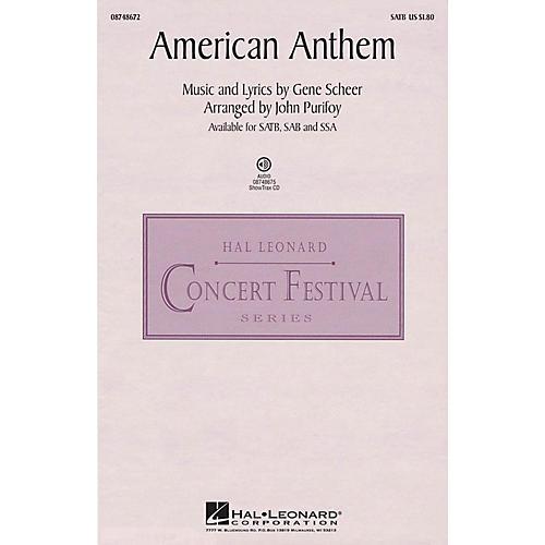Hal Leonard American Anthem SAB Arranged by John Purifoy