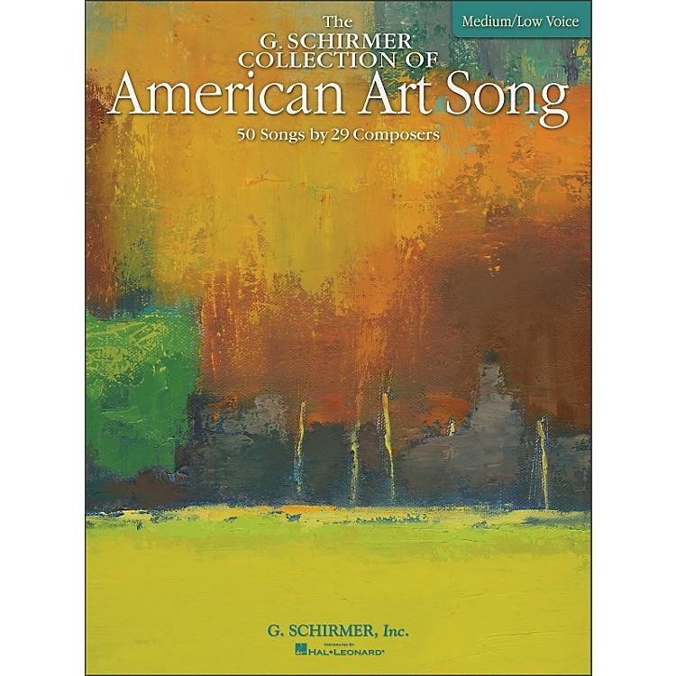 G. SchirmerAmerican Art Song Medium /Low - The G Schirmer Collection