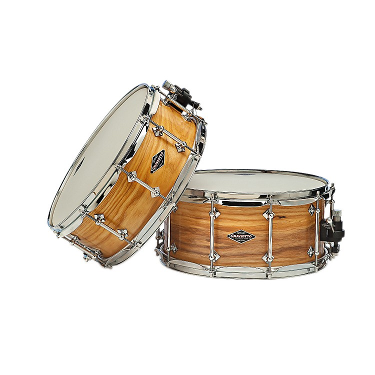 Craviotto American Ash Snare Drum with Natural Satin Oil Finish American Ash 14x6.5 Inch