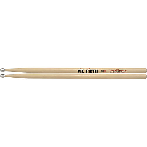 Vic Firth American Classic Drumsticks with Silver Bullet Aluminum Tip 5A