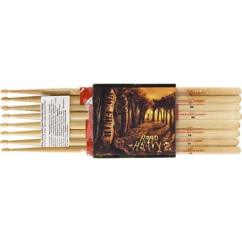 Vic Firth American Classic Sticks 4-Pack with Free CD-thumbnail