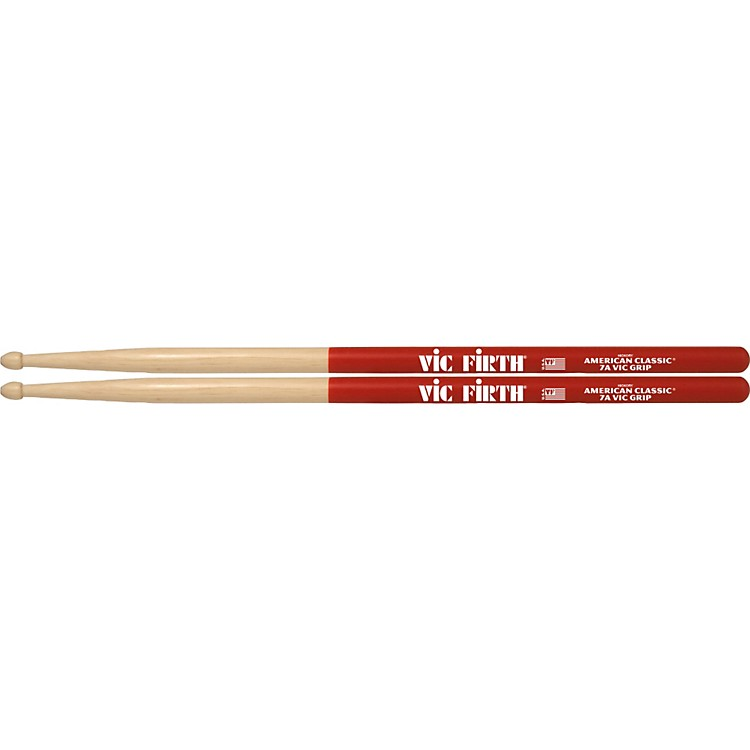 Vic Firth American Classic Vic Grip Hickory Drumsticks 7A Wood