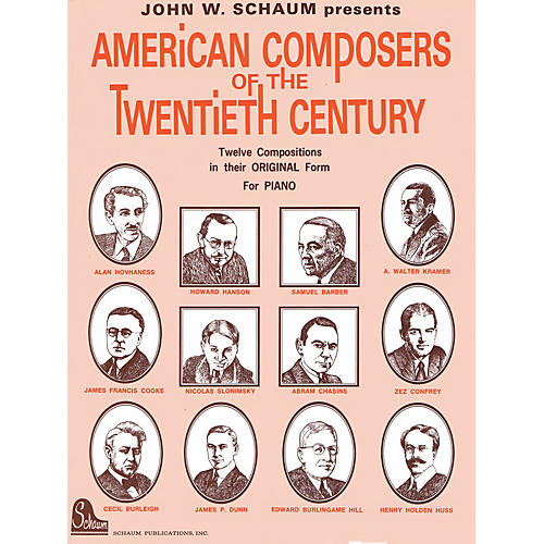 SCHAUM American Composers Of 20th Cen Educational Piano Series Softcover-thumbnail