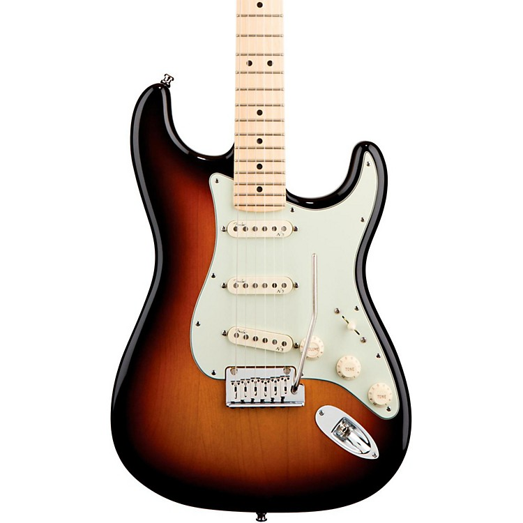 Fender American Deluxe Stratocaster Electric Guitar 3-Color Sunburst Maple Neck
