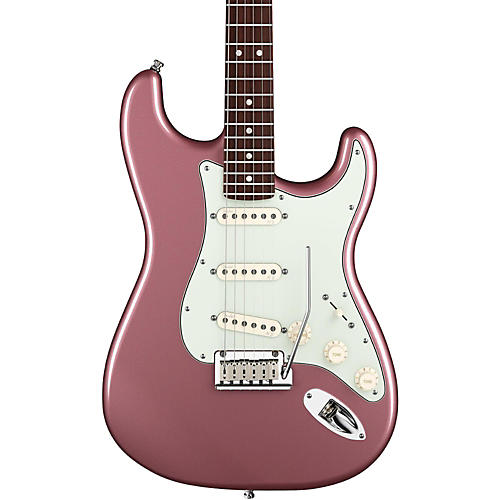 Fender American Deluxe Stratocaster Electric Guitar Burgundy Mist Metallic Rosewood Fretboard