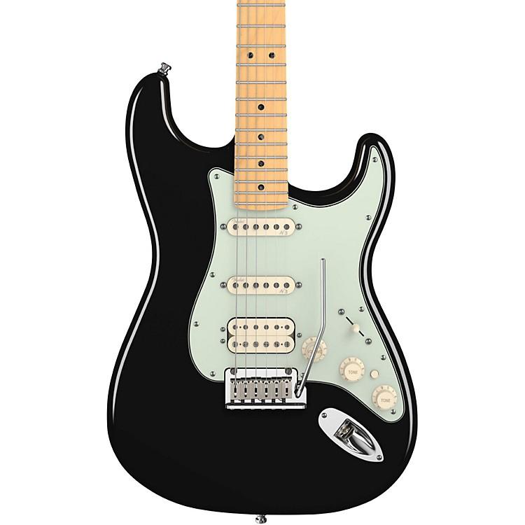 FenderAmerican Deluxe Stratocaster HSS Electric GuitarBlackMaple Fretboard