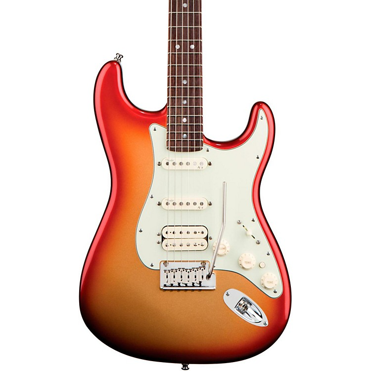 Fender American Deluxe Stratocaster HSS Electric Guitar Sunset Metallic Rosewood
