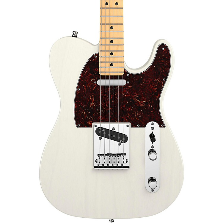 Fender American Deluxe Telecaster Ash Electric Guitar White Blonde Maple Fretboard