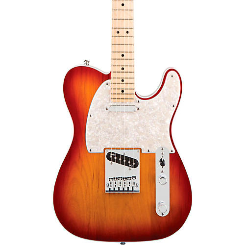 Fender American Deluxe Telecaster Electric Guitar Aged Cherry Burst Maple Neck