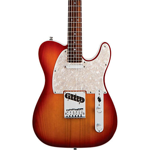 Fender American Deluxe Telecaster Electric Guitar Aged Cherry Burst Rosewood