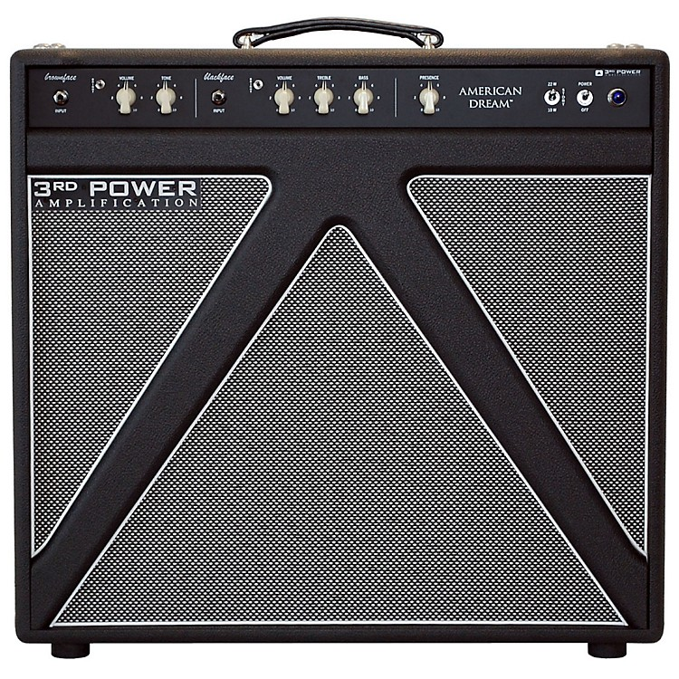 3rd Power Amps American Dream 30W 1x12 Tube Guitar Combo Amp with Alnico Gold Speaker Black