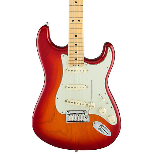 Fender American Elite Maple Stratocaster Electric Guitar Aged Cherry Burst