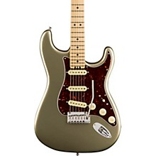 American Elite Stratocaster Maple Fingerboard Electric Guitar Champagne