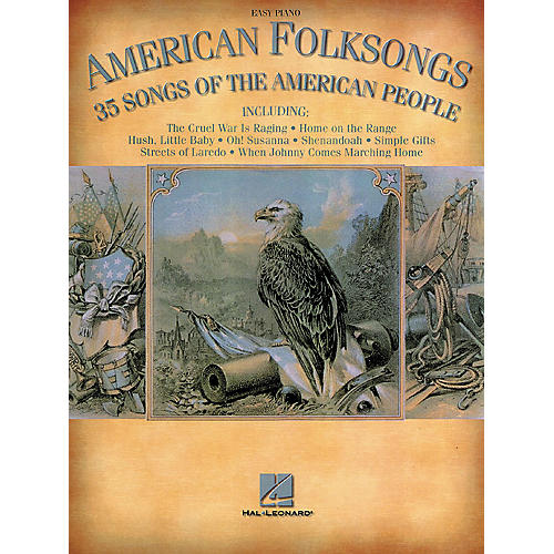 Hal Leonard American Folksongs - 35 Songs Of The American People For Easy Piano