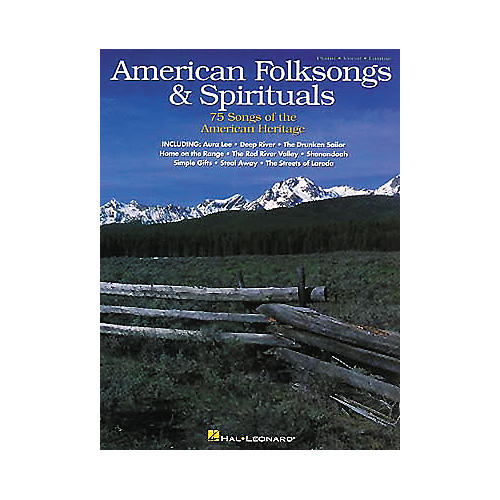 Hal Leonard American Folksongs and Spirituals Piano/Vocal/Guitar Songbook