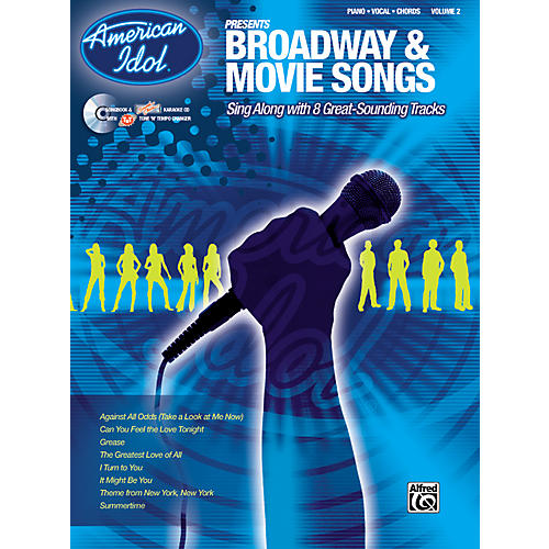 Alfred American Idol Presents Broadway and Movie Songs Book and CD