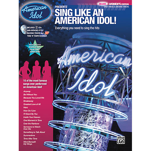 Alfred American Idol Presents: Sing Like an American Idol! DELUXE Women's Edition (Book/2 CD)