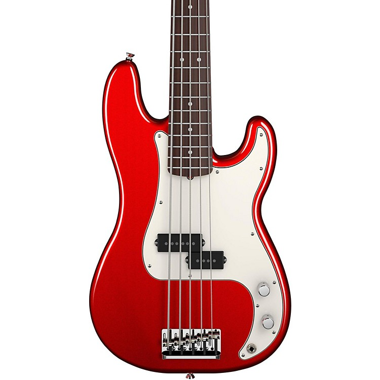 Fender American Standard Precision Bass V Mystic Red Rosewood Fingerboard