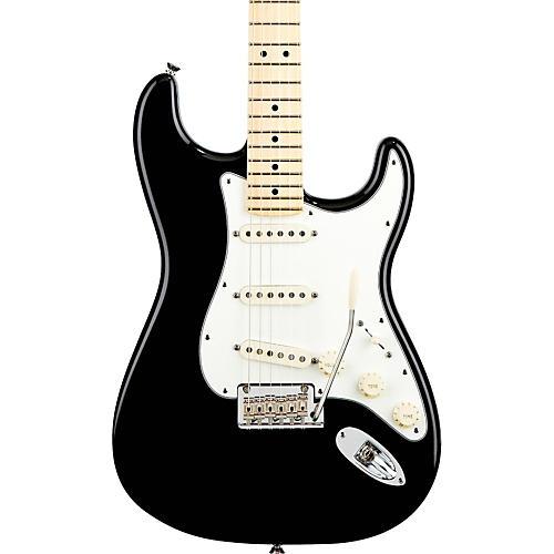 Fender American Standard Stratocaster Electric Guitar Black Maple Fingerboard