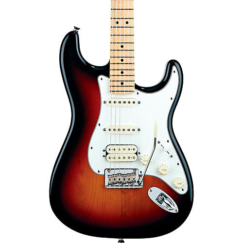 Fender American Standard Stratocaster HSS Electric Guitar with Maple Fretboard 3-Color Sunburst Maple Fingerboard