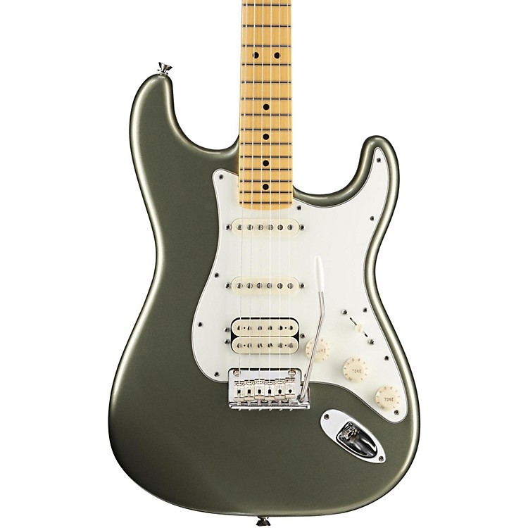 Fender American Standard Stratocaster HSS Electric Guitar with Maple Fretboard Jade Pearl Metallic Maple Fingerboard