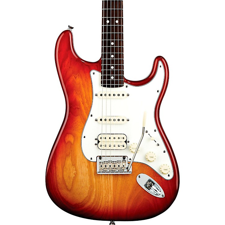 Fender American Standard Stratocaster HSS Electric Guitar with Rosewood Fretboard Sienna Sunburst Rosewood Fingerboard