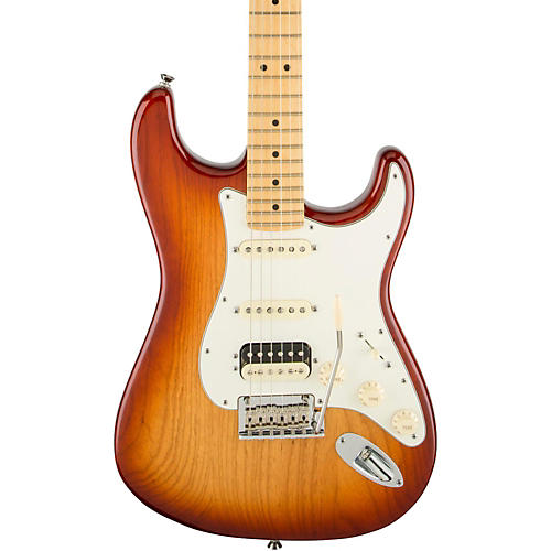 Fender American Standard Stratocaster HSS Shawbucker Maple Fingerboard Electric Guitar Sienna Sunburst