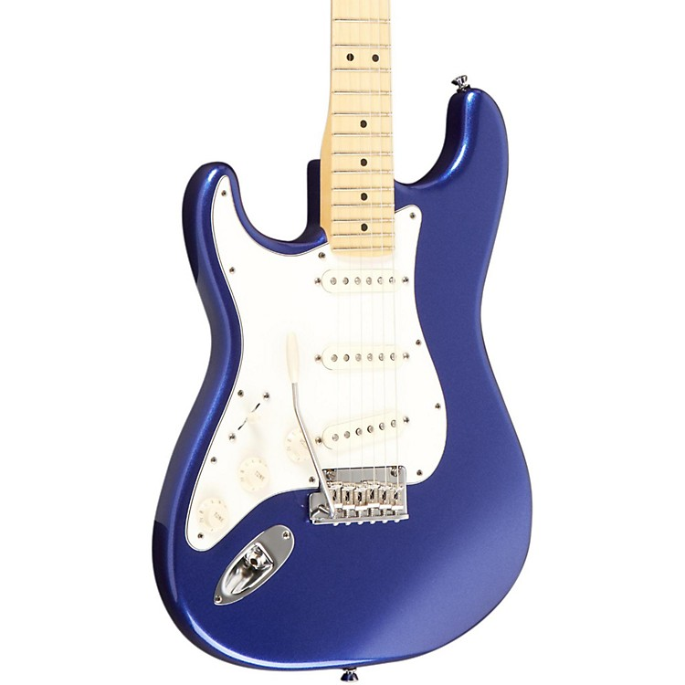 Fender American Standard Stratocaster Left-Handed Electric Guitar with Maple Fretboard Mystic Blue Maple