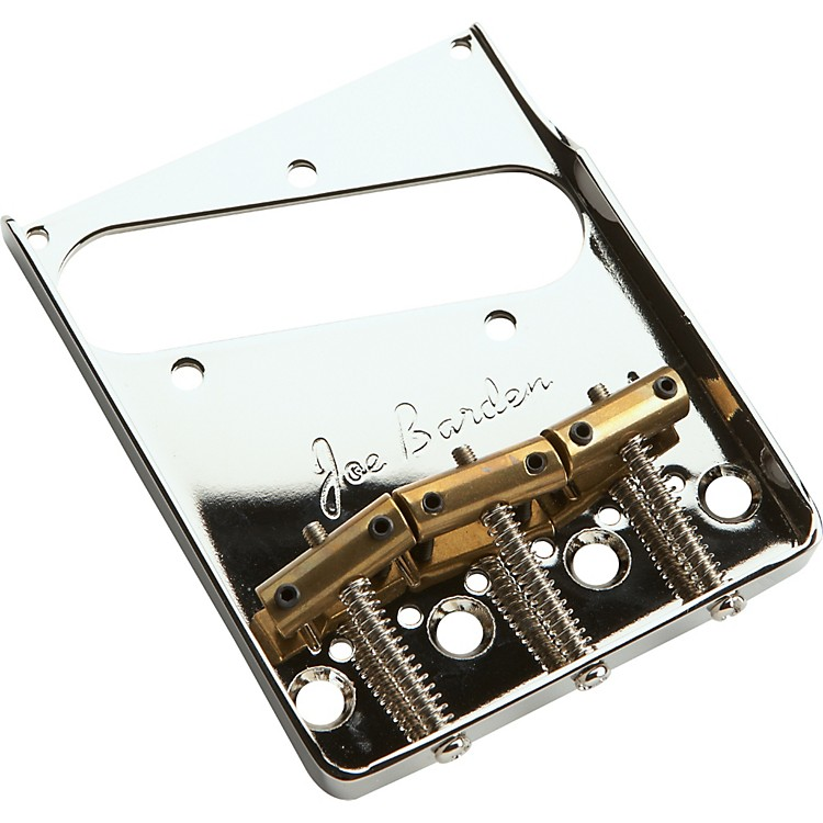Joe Barden Pickups American Standard Tele Bridgeplate and Saddle Kit Nickel