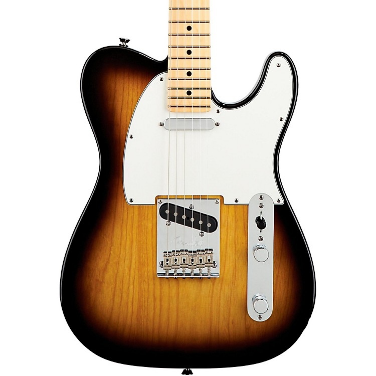 Fender American Standard Telecaster Electric Guitar with Maple Fingerboard 2-Color Sunburst Maple Fingerboard