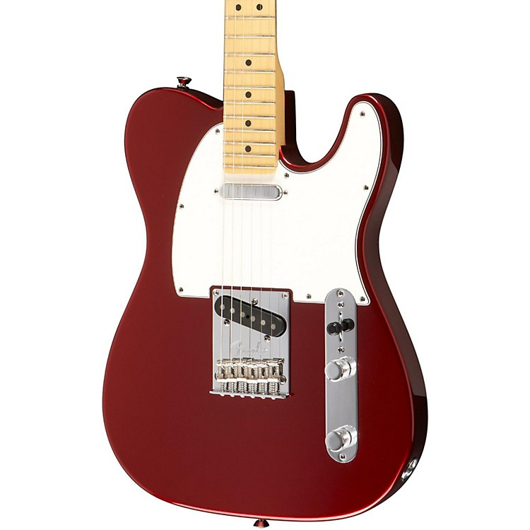 Fender American Standard Telecaster Electric Guitar with Maple Fingerboard Mystic Red Maple Fretboard