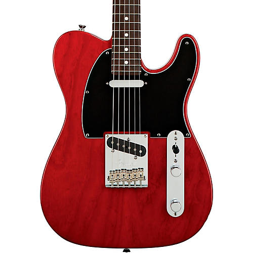 Fender American Standard Telecaster Electric Guitar with Rosewood Fingerboard Transparent Crimson Red Rosewood Fingerboard